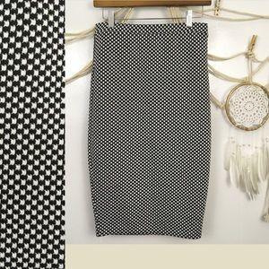 Bar lll stretchy checkerboard bodycon pencil skirt